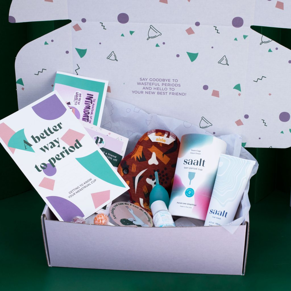 Teen Period Kit for menstrual cups Saalt Teen