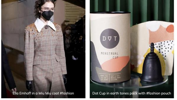 Ella Emhoff fashion as menstrual cup