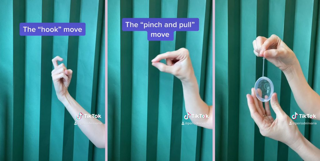 techniques for how to remove a menstrual disc