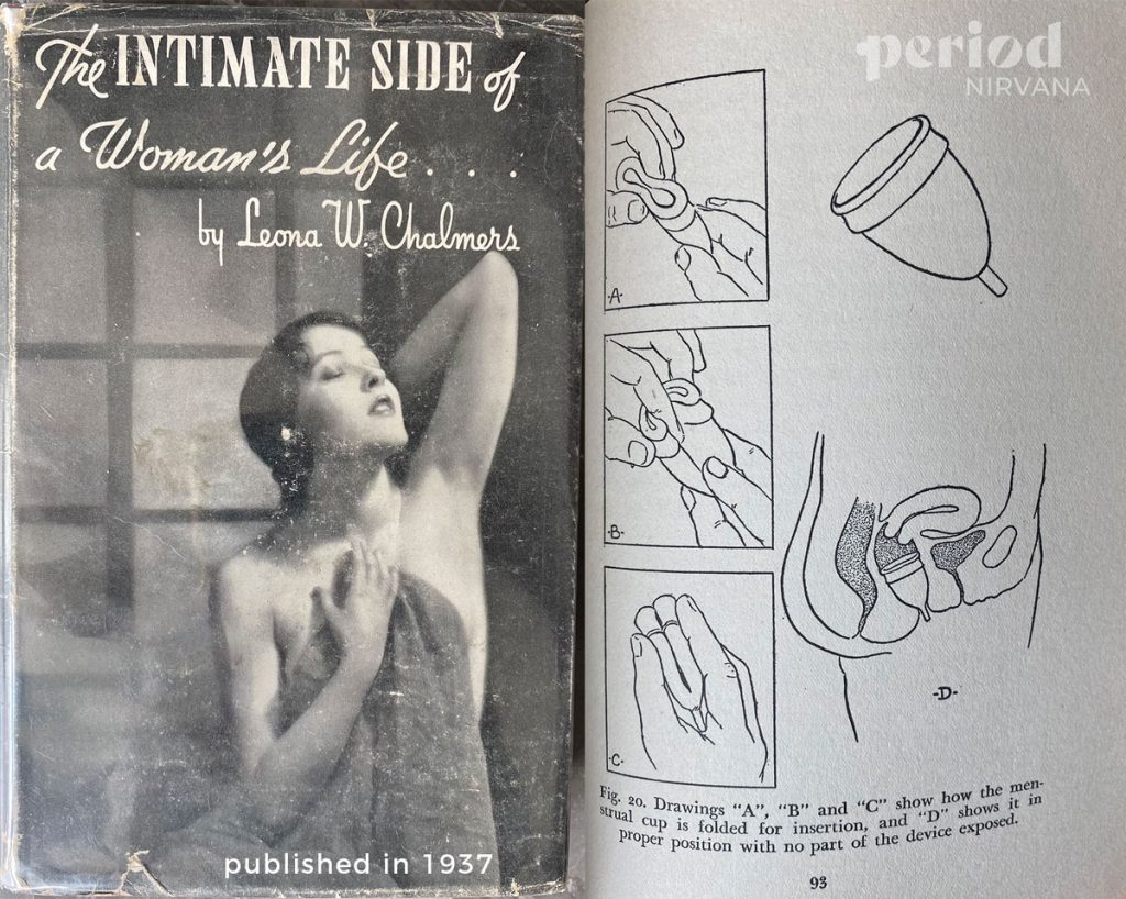 the first menstrual cup, Leona Chalmers, diagram